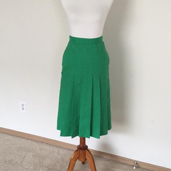 932bd2351 Skirts | Villager Vintage 1940s Pleated Skirt Wpockets | Poshmark
